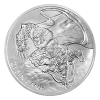 1 oz 2018 Zi Sin Canis Silver Round