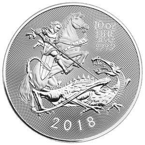 10 oz 2018 Royal Mint Valiant Silver Coin