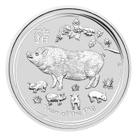 1 oz 2019 Perth Mint Lunar Year of the Pig Silver Coin