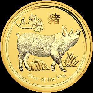 Pièce d'or Année lunaire du cochon de la Perth Mint 2019 de 1 once