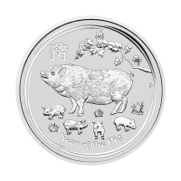 1/2 oz 2019 Perth Mint Lunar Year of the Pig Silver Coin