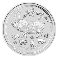 2 oz 2019 Perth Mint Lunar Year of the Pig Silver Coin