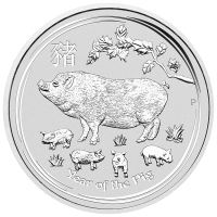 10 oz 2019 Perth Mint Lunar Year of the Pig Silver Coin
