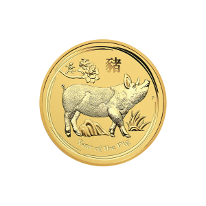 1/4 oz 2019 Perth Mint Lunar Year of the Pig Gold Coin