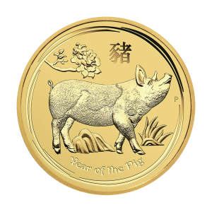 1/2 oz 2019 Perth Mint Lunar Year of the Pig Gold Coin