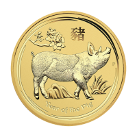 1/2 oz 2019 Perth Mint Lunar Year of the Pig Gullmynt