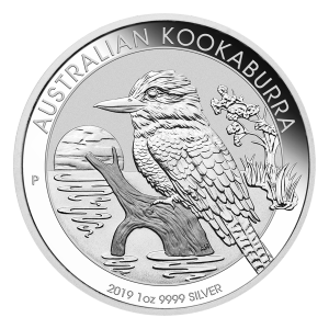 Pièce d'argent Kookaburra australien 2019 de 1 once