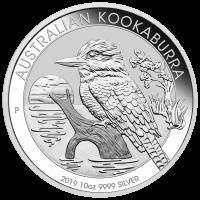 10 أوقية 2019 عملة فضية لطائر الكوكابورا الأسترالي