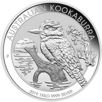 1 kg | Kilo Silbermünze - australischer Kookaburra - 2019