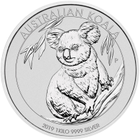 1 kg | Pièce d'argent Koala australien 2019