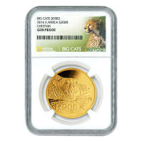 1 oz 2016 Big Cats Series | Cheetah NGC Gem Proof Gold Coin