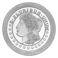 1 oz Silvertowne Morgan Stackable Silver Round