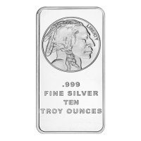 10 oz Silvertowne Buffalo Silver Bar