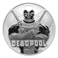 Moneda de plata Deadpool 2018 de 1 onza