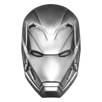 2 oz 2019 Iron Man Mask Silver Coin