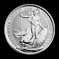 Pièce d'argent Britannia 2019 de 1 once