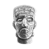 1.5 oz Monarch Precious Metals Frankenstein Monster Head Silver Bar