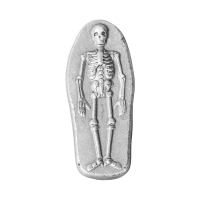 3 oz Monarch Precious Metals Skeleton Silver Bar
