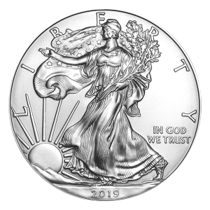 Pièce d'argent American Eagle 2019 de 1 once