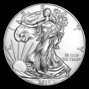 1 uns 2019 Amerikansk Örn Silvermynt