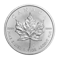 1 oz 2019 Canadian Maple Leaf 銀貨