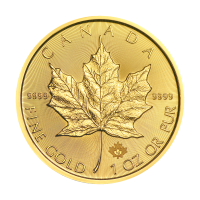 Moneda de oro Hoja de Arce Canadiense 2019 de 1 oz