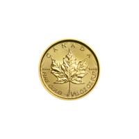 Moneda de oro Hoja de Arce Canadiense 2019 de 1/10 oz