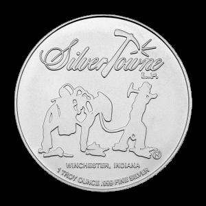 Ronde d'argent Jeton de poker du prospecteur Silvertowne de 1 once
