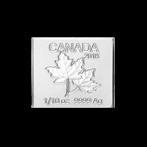 1/10 oz 2018 Royal Canadian Mint Maple Leaf Flex Multibar Silver Coin Piece