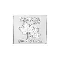 1/10 oz 2018 Royal Canadian Mint Maple Leaf Flex Multibar Silver Coin Piece