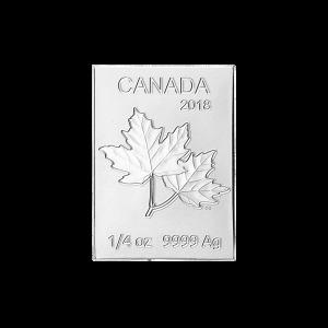 1/4 oz 2018 Royal Canadian Mint Maple Leaf Flex Multibar Silver Coin Piece