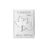 Pieza de Moneda de Plata Multibarra Flex Hoja de Arce Canadiense 2018 de 1/4 oz de la Casa de la Moneda Real Canadiense
