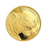 1/2 oz 2017 South Korean Tiger Gold Round