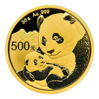 30 g 2019 Chinese Panda Gold Coin