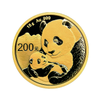 15 g 2019 Chinese Panda Gold Coin