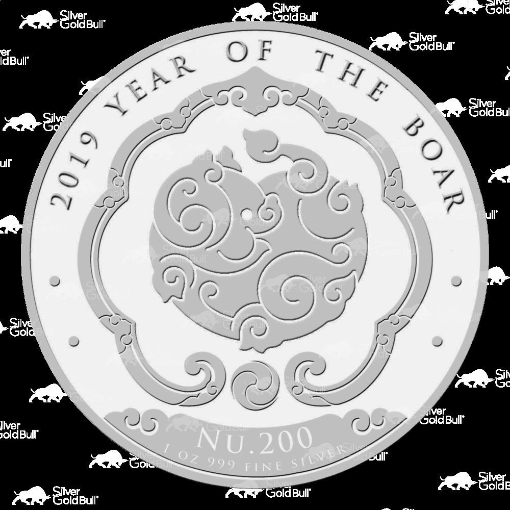 COIN LUNAR YEAR of PIG BHUTAN 2019 SILVER 1 OZ