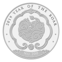 1 oz 2019 Kingdom of Bhutan Lunar Year of the Boar Silver Coin