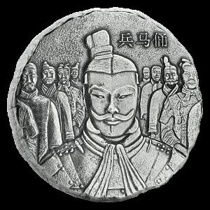 5 oz 2018 Scottsdale Mint Terracotta Army Antiqued Sølvmynt