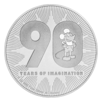 Moneda de plata 90° Aniversario | Disney Mickey Mouse 2018 de 1 oz