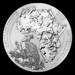 Moneda de plata Picozapato Africano de Ruanda 2019 de 1 oz