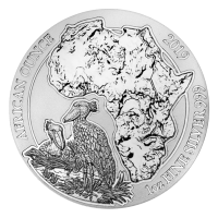 1 oz Silbermünze - afrikanischer Schuhschnabel - Ruanda 2019