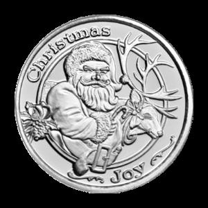 Ronda de plata Santa y Reno de 1 oz