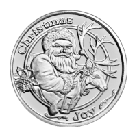 1 oz Santa and Reindeer Silver Round