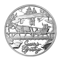 1 oz Sleigh on a Bridge Holiday Silver Round