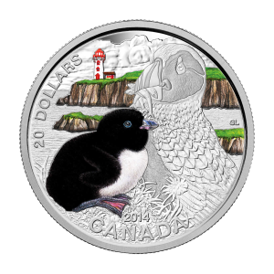 2014 RCM Baby Animals | Atlantic Puffin Coin and Stamp Set