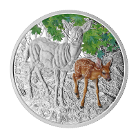 2015 RCM Baby Animals | White Tailed Deer Coin and Stamp Set