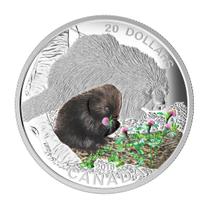 2016 RCM Baby Animals | Porcupine Coin and Stamp Set