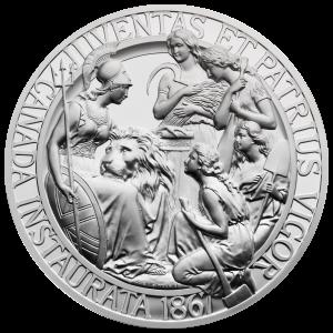10 oz 1867 Confederation Medal Restrike Silver Round