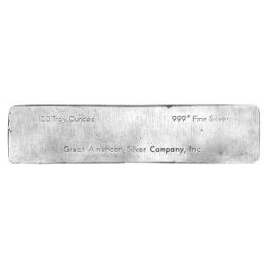 100 oz Great American Silver Company Silver Bar