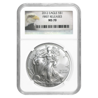 1 oz 2012 American Eagle NGC MS-70 First Releases Silver Coin